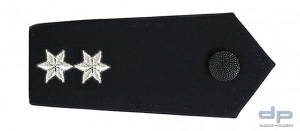 ETZEL Schulterklappen Paar mit Druckknopf 2 Sterne Silber Polizeioberkommissarin