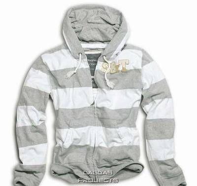 Stripe Hoodie Zipper Gr. L