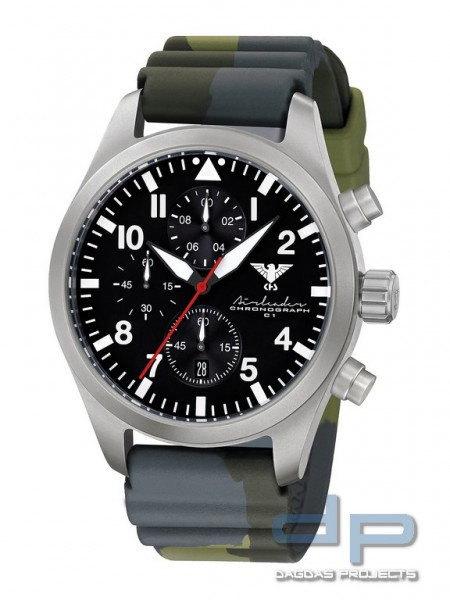Airleader Steel Chronograph Band Diver Camo. Olive